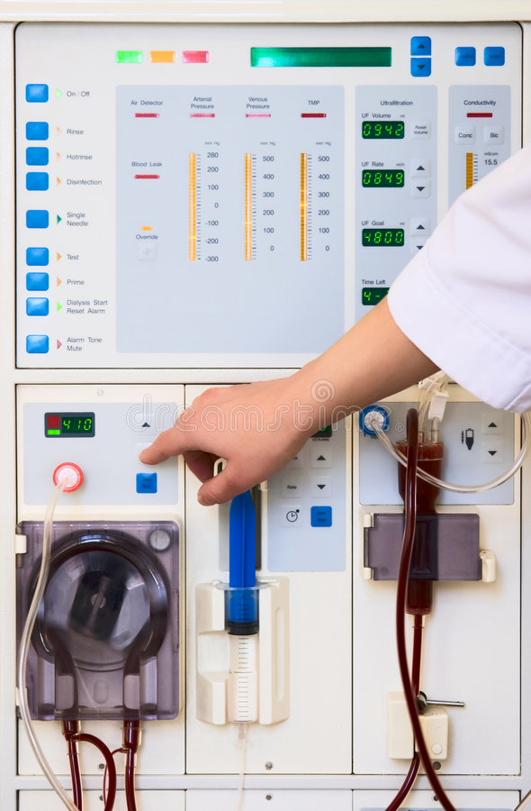 Free Dialysis Device Stock Image - 2451101