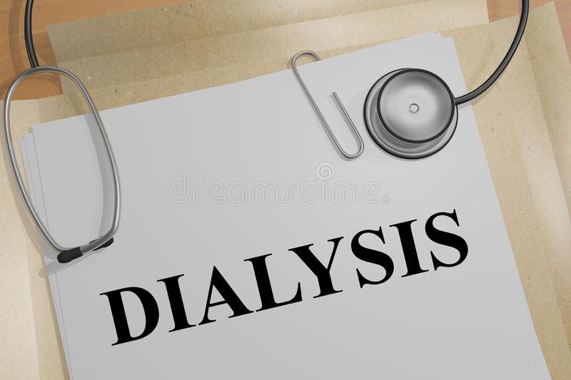DIALYSIS - medical concept stock illustration