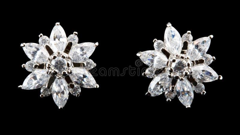 diamantörhängesilver arkivbild