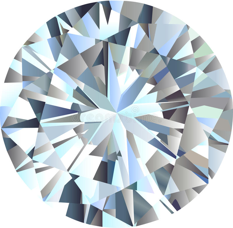diamant vektor illustrationer