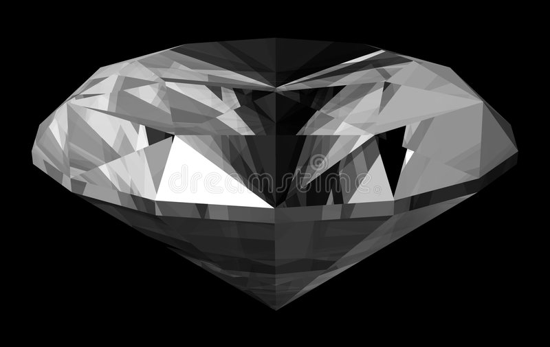 Diamant 3d vektor abbildung