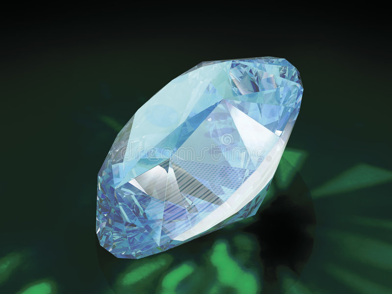 Diamant 3d lizenzfreies stockfoto