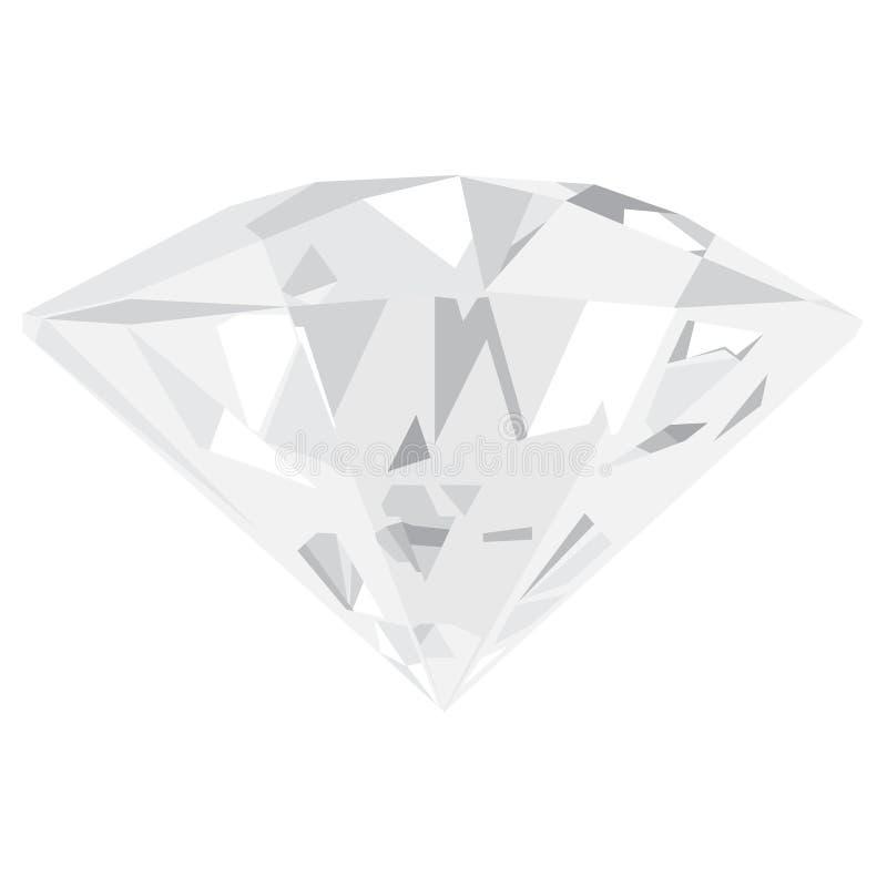 Diamant vektor illustrationer