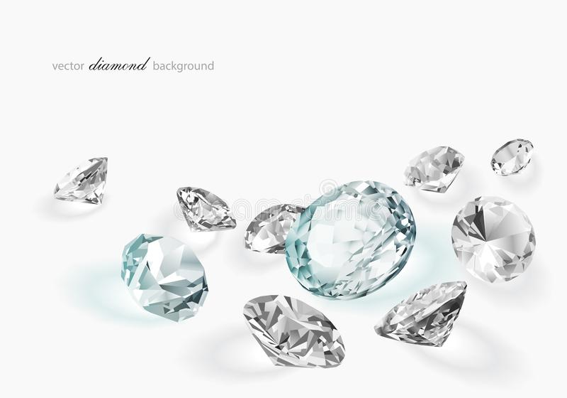 Diamant abstracte achtergrond stock illustratie