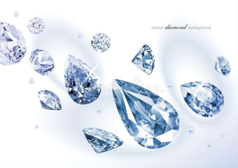 Diamant abstracte achtergrond royalty-vrije illustratie