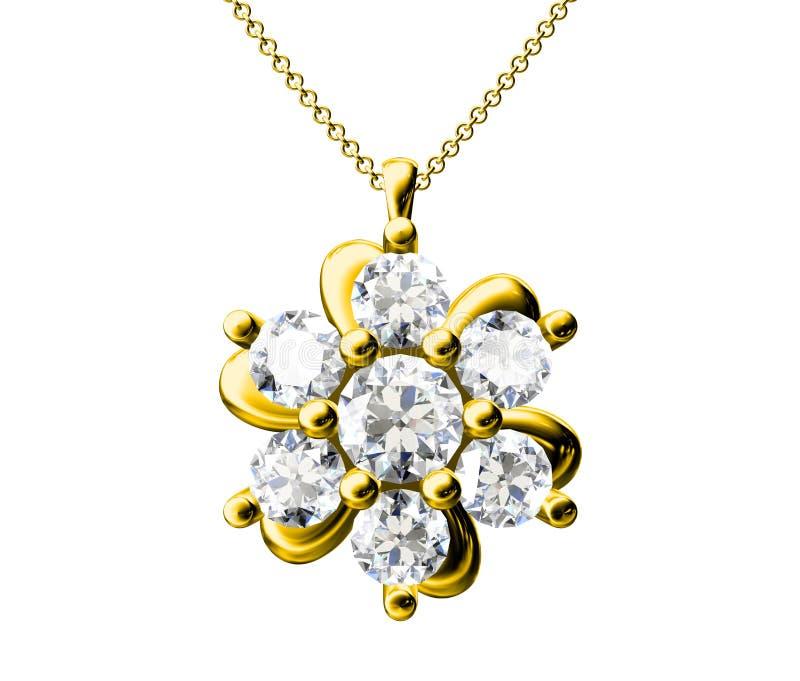 Diamant-Anhänger lizenzfreie abbildung