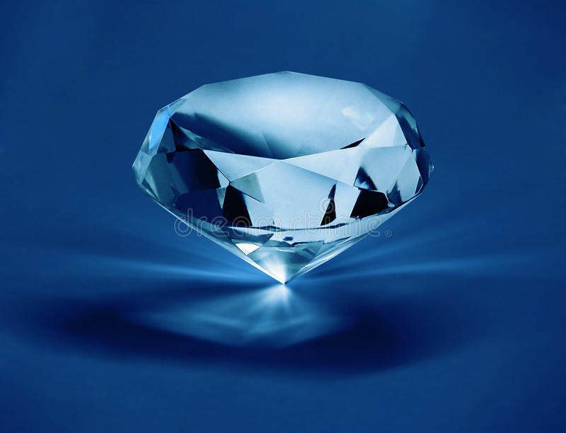 Diamant auf blauem f1s stockfoto