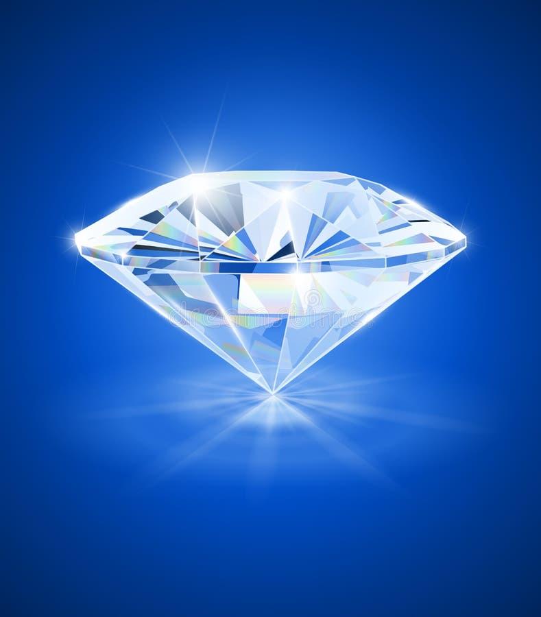 Diamant auf blauem Hintergrund vektor abbildung