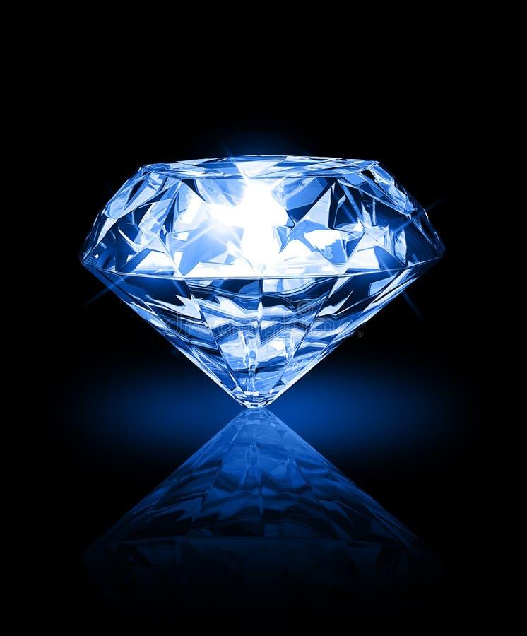 Diamant auf dunklem Hintergrund stock abbildung