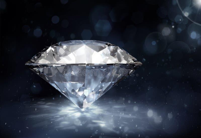 Diamant auf dunklem Hintergrund vektor abbildung