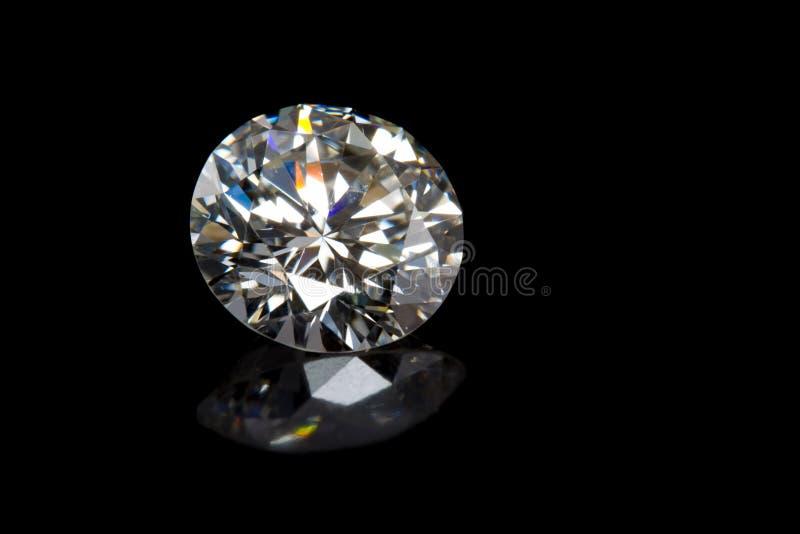 Diamant auf Schwarzem lizenzfreies stockbild