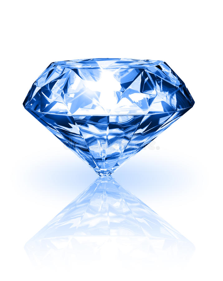 Diamant Auf Weißem Hintergrund Stock Abbildung - Illustration von ...