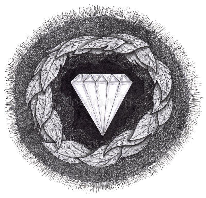diamant bildat stort tryck under vektor illustrationer