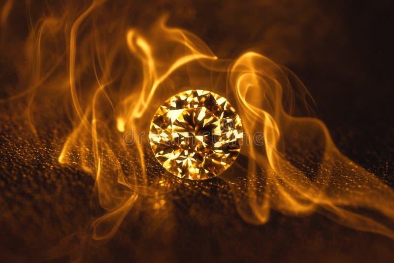 Diamant in Brand royalty-vrije stock fotografie