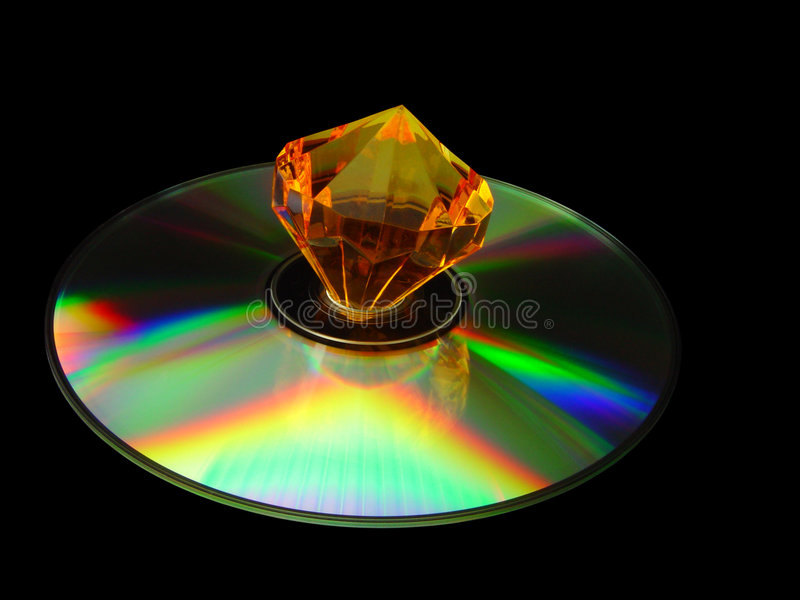 Diamant CD lizenzfreie stockfotos