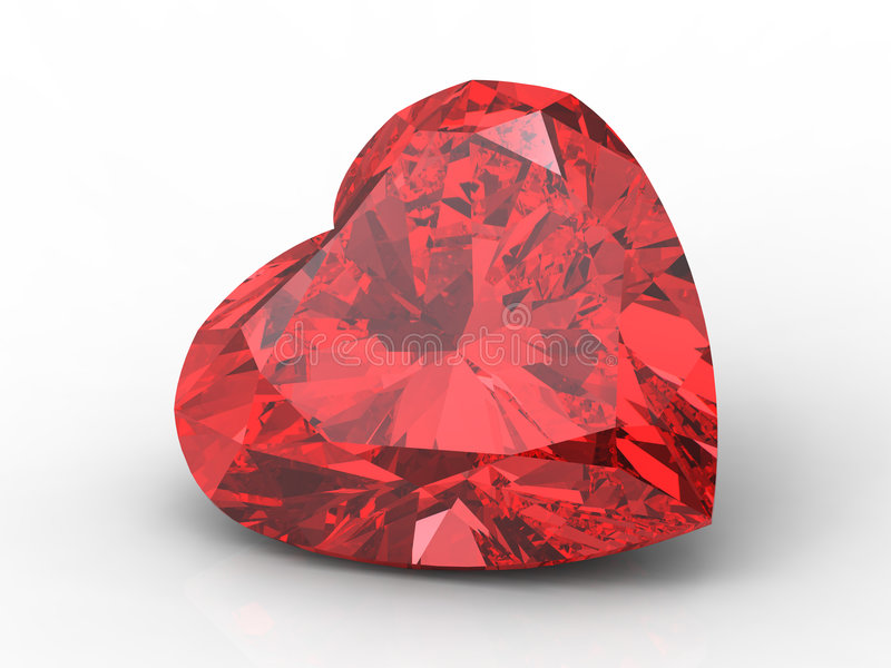 Diamant de coeur illustration stock