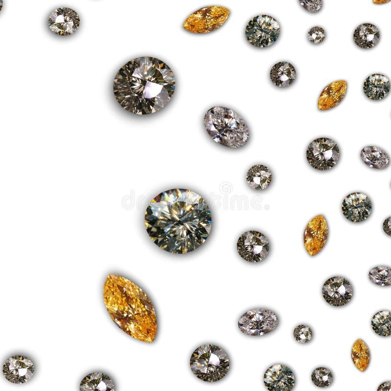 Diamant - de textuur van Diamanten royalty-vrije stock foto