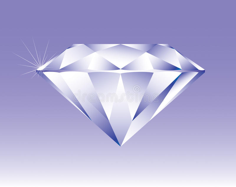 Diamant de vecteur image libre de droits