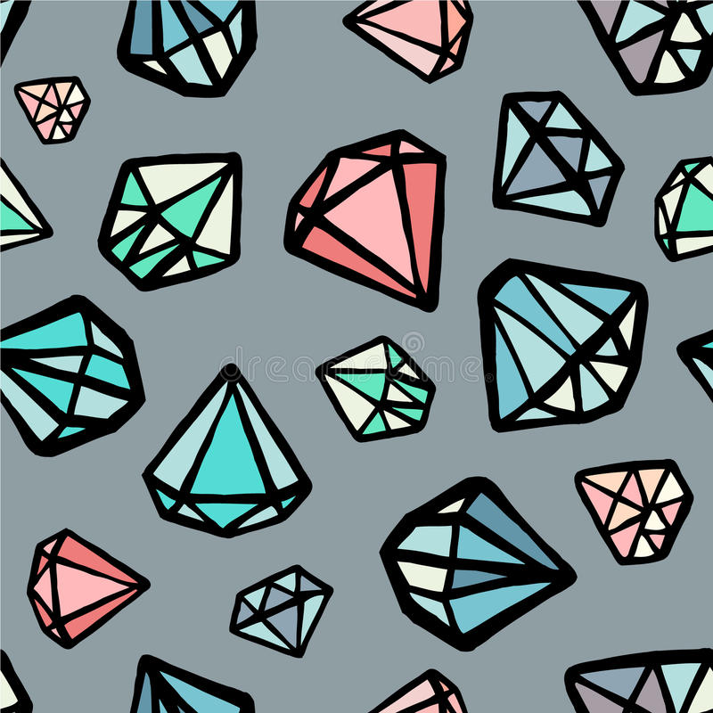 Diamant de vecteur coloré illustration de vecteur