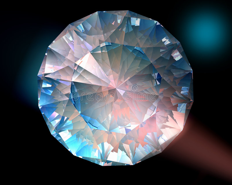 Diamant in den bunten Leuchten