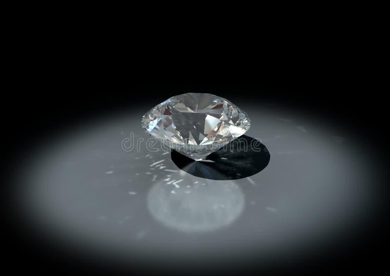 Diamant der Schmucksachen 3D stockbilder