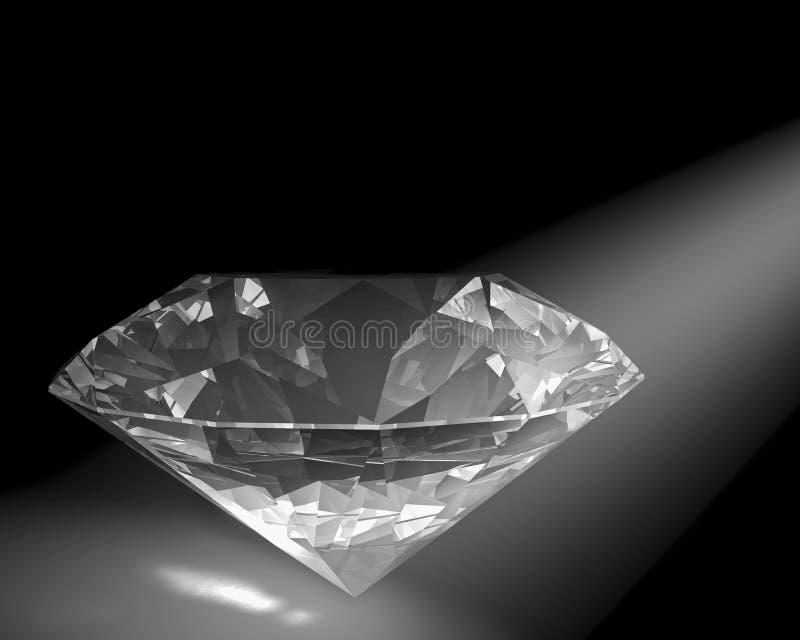 Diamant in der weißen Leuchte lizenzfreie abbildung