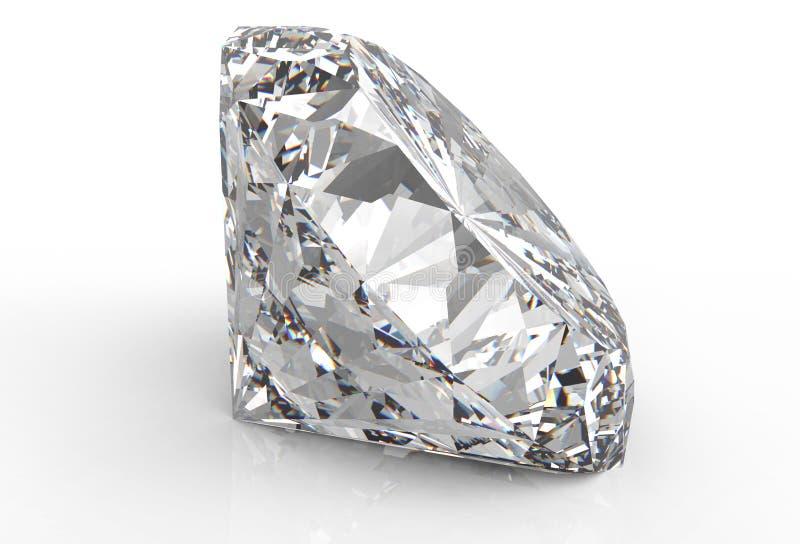 Diamant die op wit wordt geïsoleerd royalty-vrije stock foto