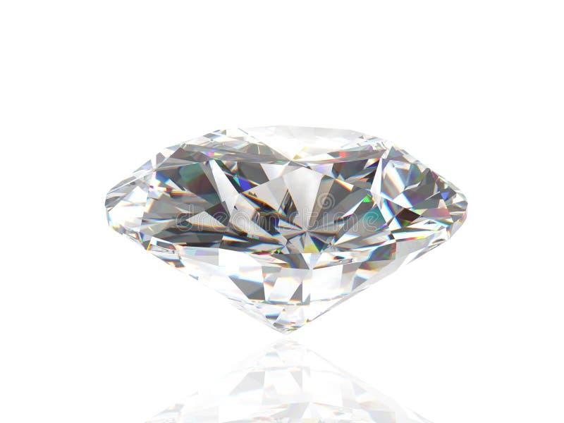 Diamant die op witte achtergrond wordt geïsoleerdi stock illustratie