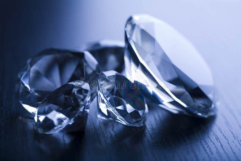 Diamant - dure steen stock foto's