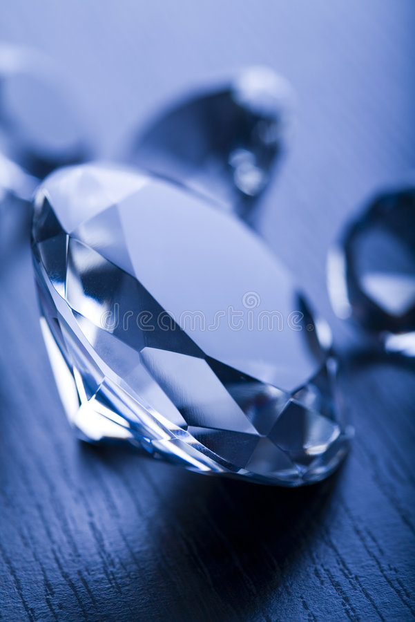 Diamant - een harde steen stock afbeeldingen