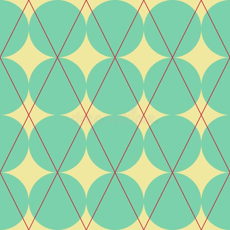Diamant en cirkelstextuur vector illustratie