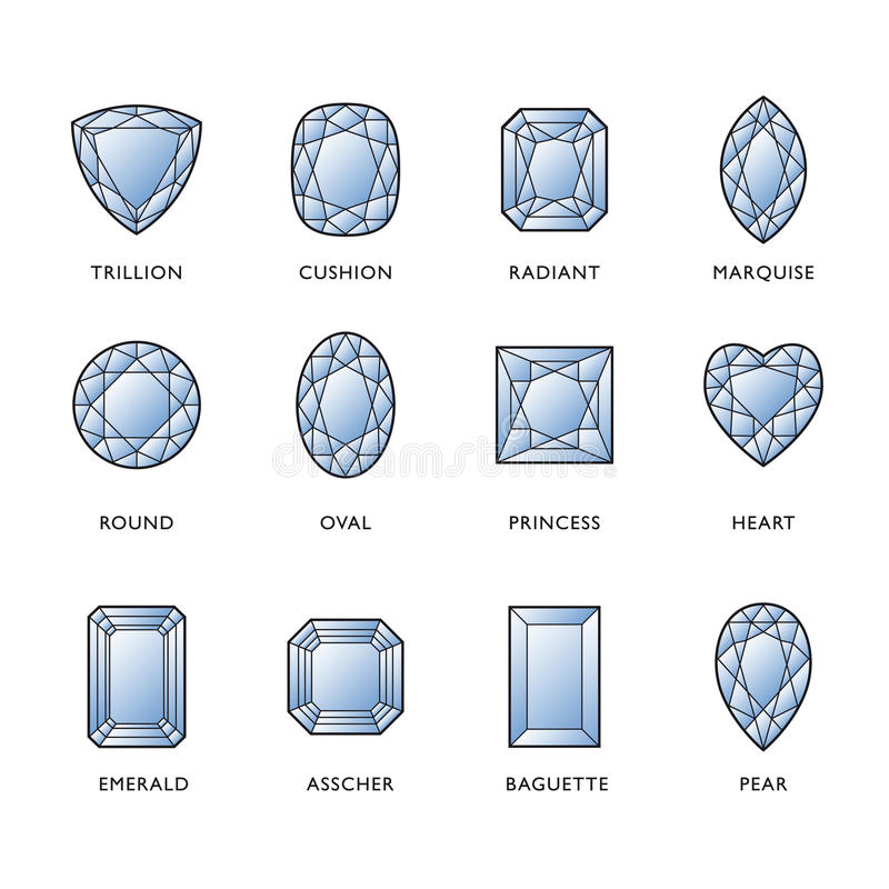 Diamant-Formen vektor abbildung