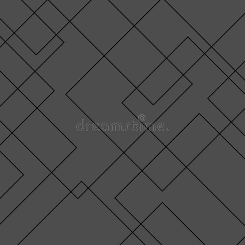 Diamant-Formmuster des Vektors modernes geometrisches quadratisches Einfacher abstrakter Hintergrund stock abbildung