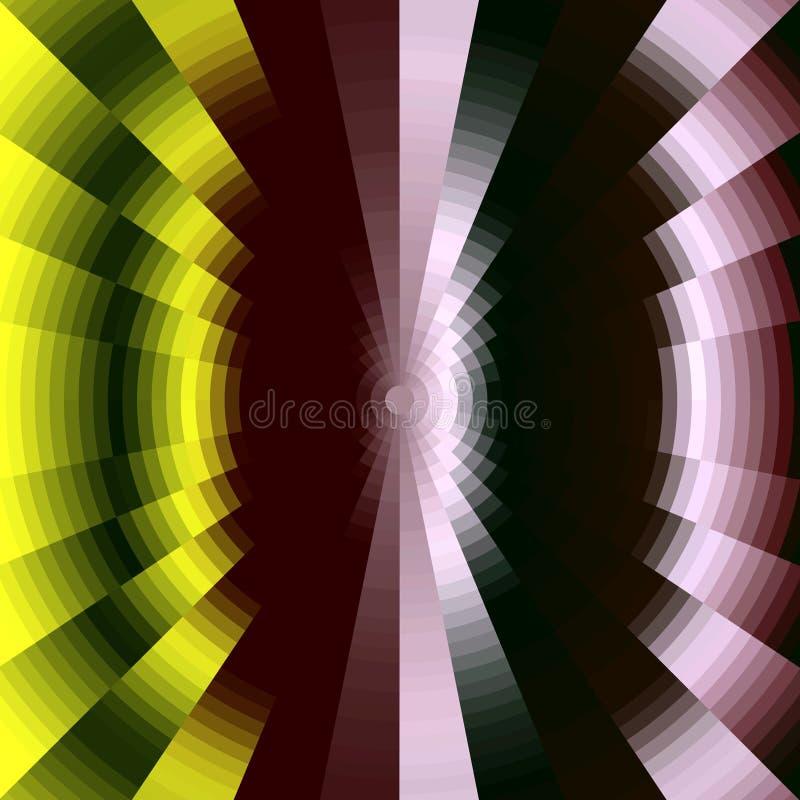 Diamant gele en rode achtergrond, abstract beeld stock illustratie