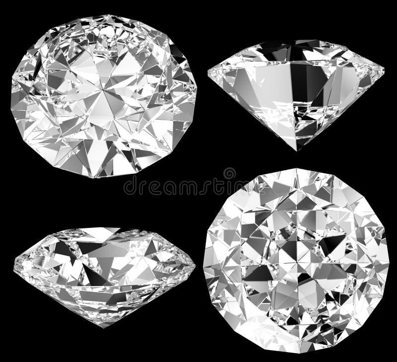 Diamant getrennt lizenzfreie abbildung