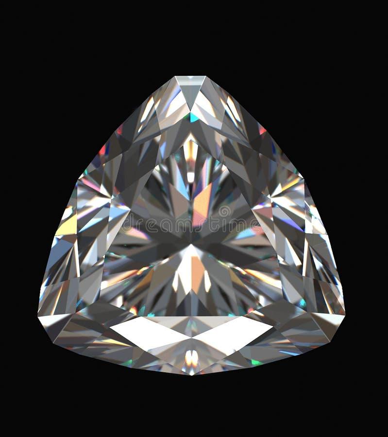 Diamant getrennt auf schwarzem Hintergrund lizenzfreie abbildung