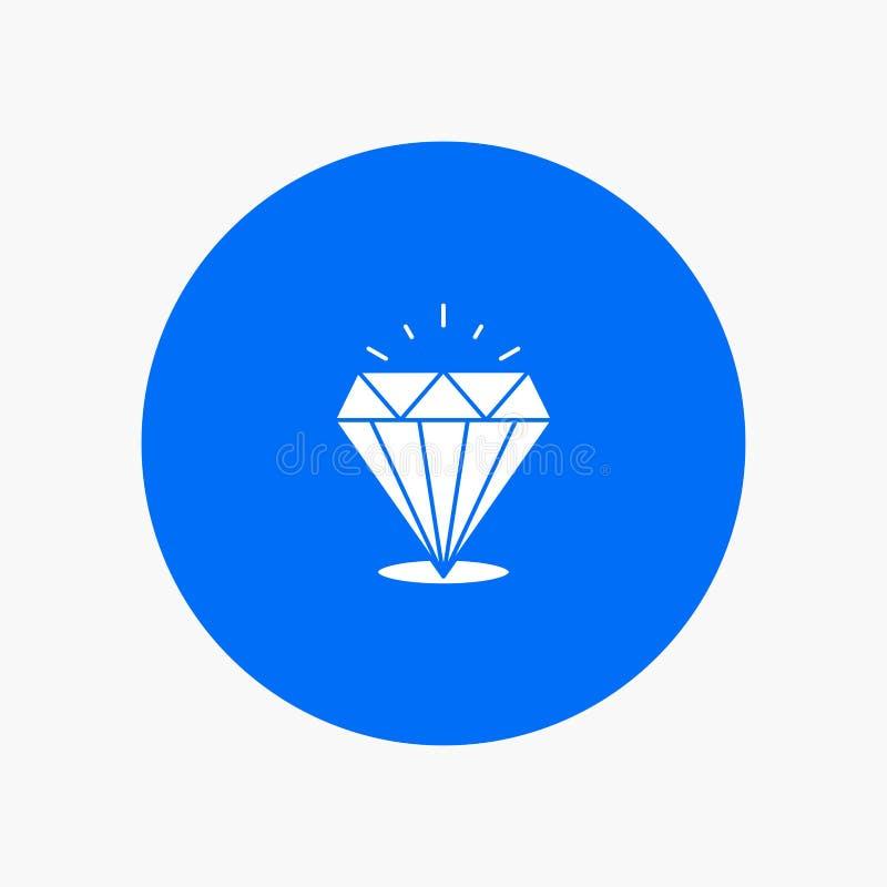 Diamant, Glanz, teuer, Stein stock abbildung