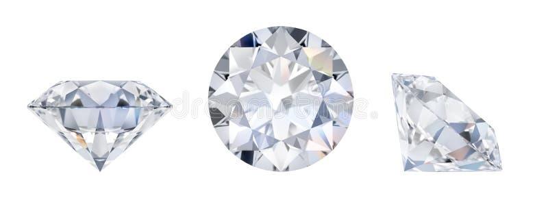 Diamant i tre mått royaltyfri illustrationer
