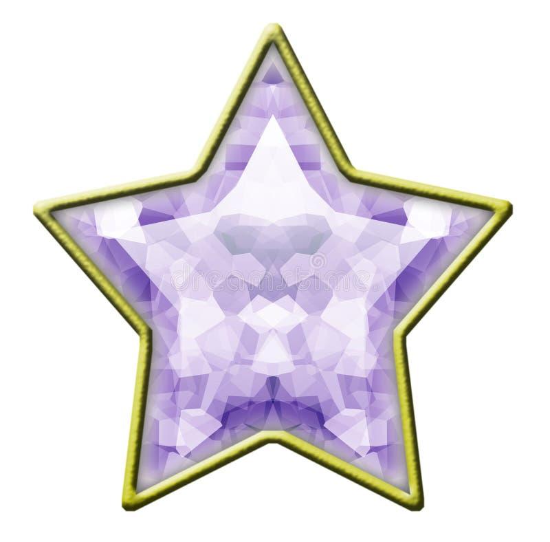 diamant isolerad stjärna royaltyfria bilder