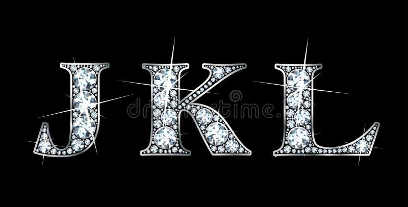diamant j K l stock illustrationer