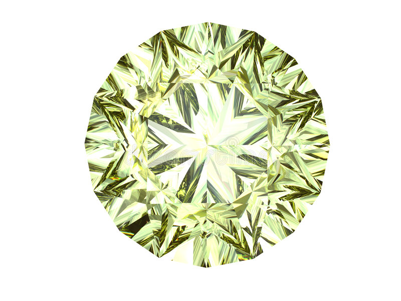 Diamant jaune illustration libre de droits