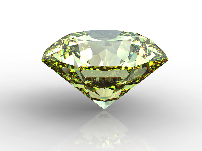 Diamant jaune illustration de vecteur