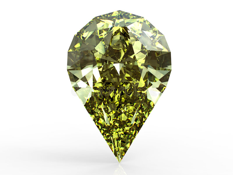 Diamant jaune de poire illustration stock