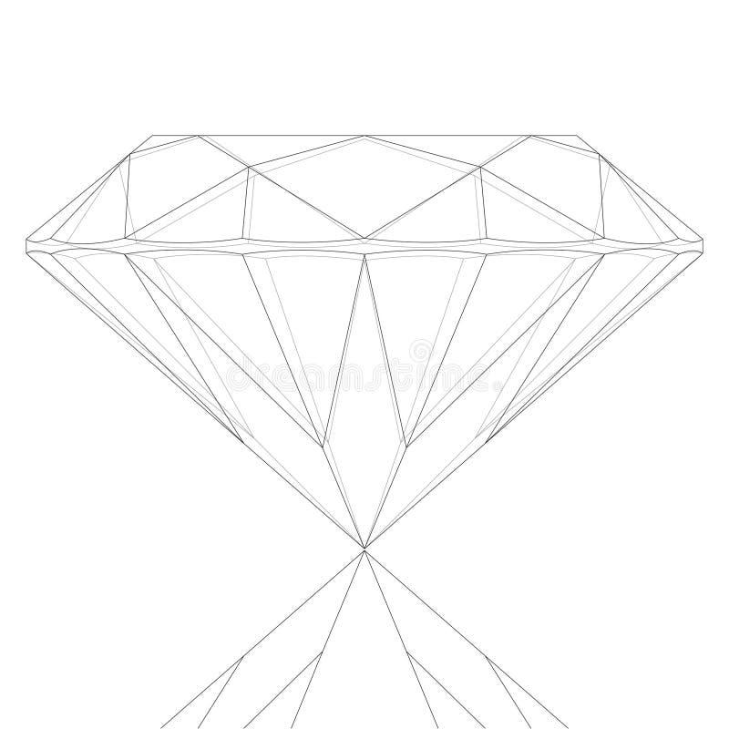 Diamant Keyline vector illustratie