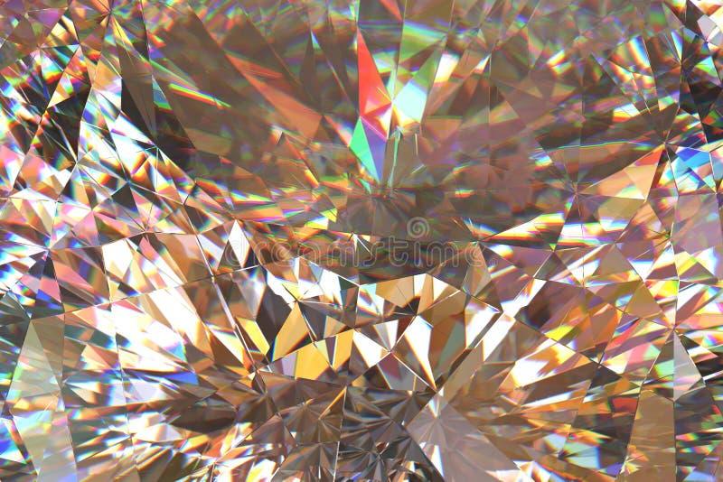 Diamant lichte samenvatting stock illustratie