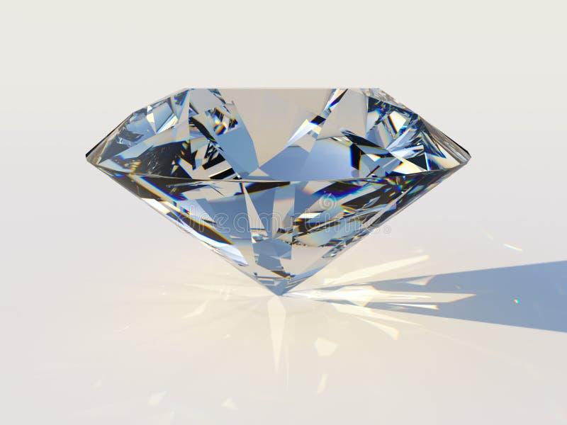 Diamant mit Zerstreuung lizenzfreie abbildung