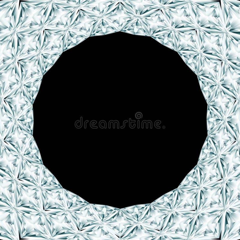 Diamant om kader royalty-vrije illustratie