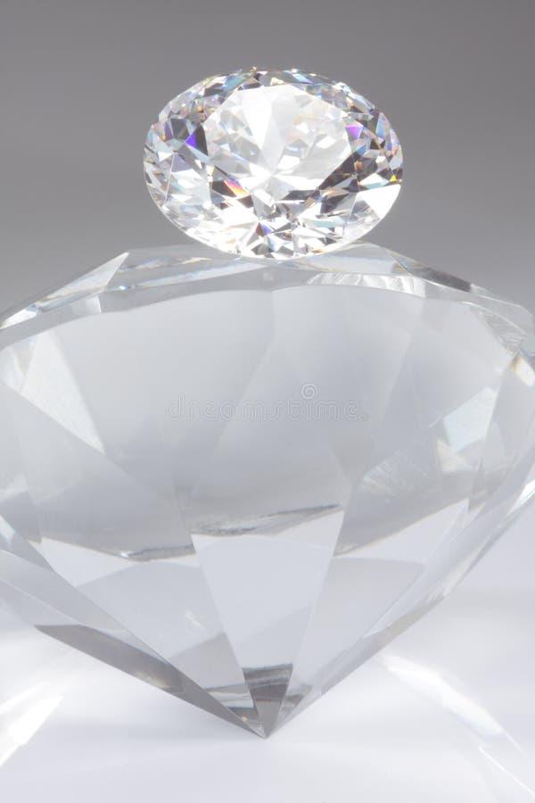 Diamant op Bovenkant royalty-vrije stock foto