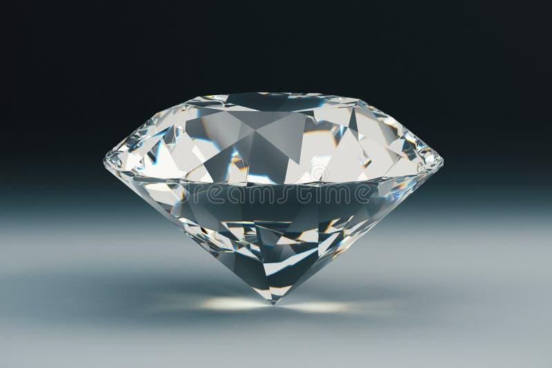 Diamant op donkere achtergrond royalty-vrije illustratie