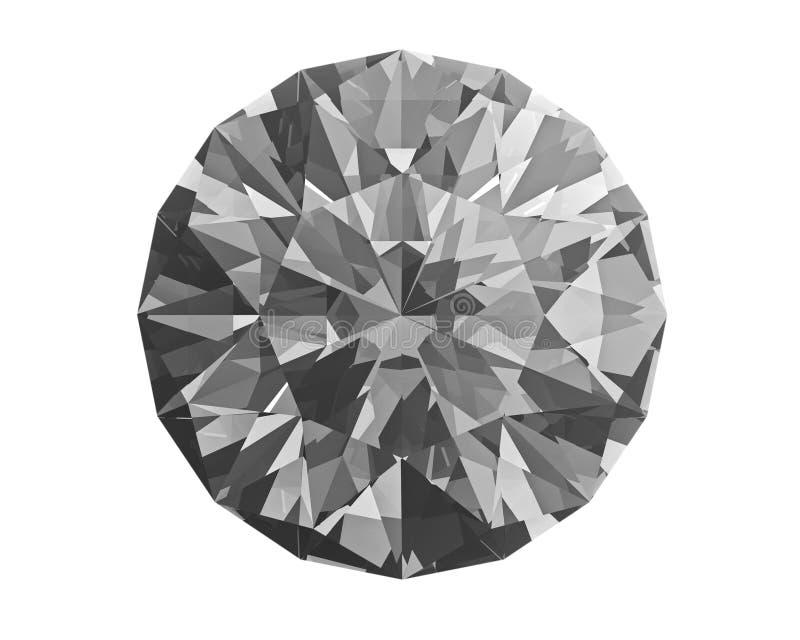 Diamant op wit royalty-vrije stock foto